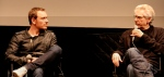 Fassbender with David Cronenberg, director of A Dangerous Method