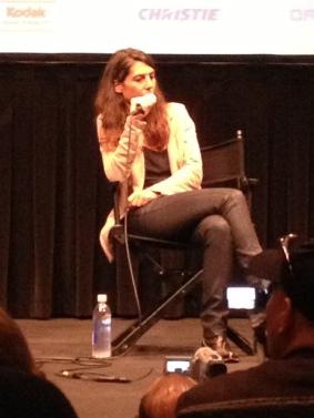 Verena Paravel at the New York Film Festival 2012.